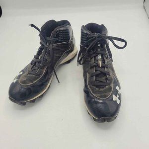 Boys Under Armour Cleats Black White Youth Size 5.